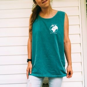 To The Nations Sea Foam Comfort Color Tank Top
